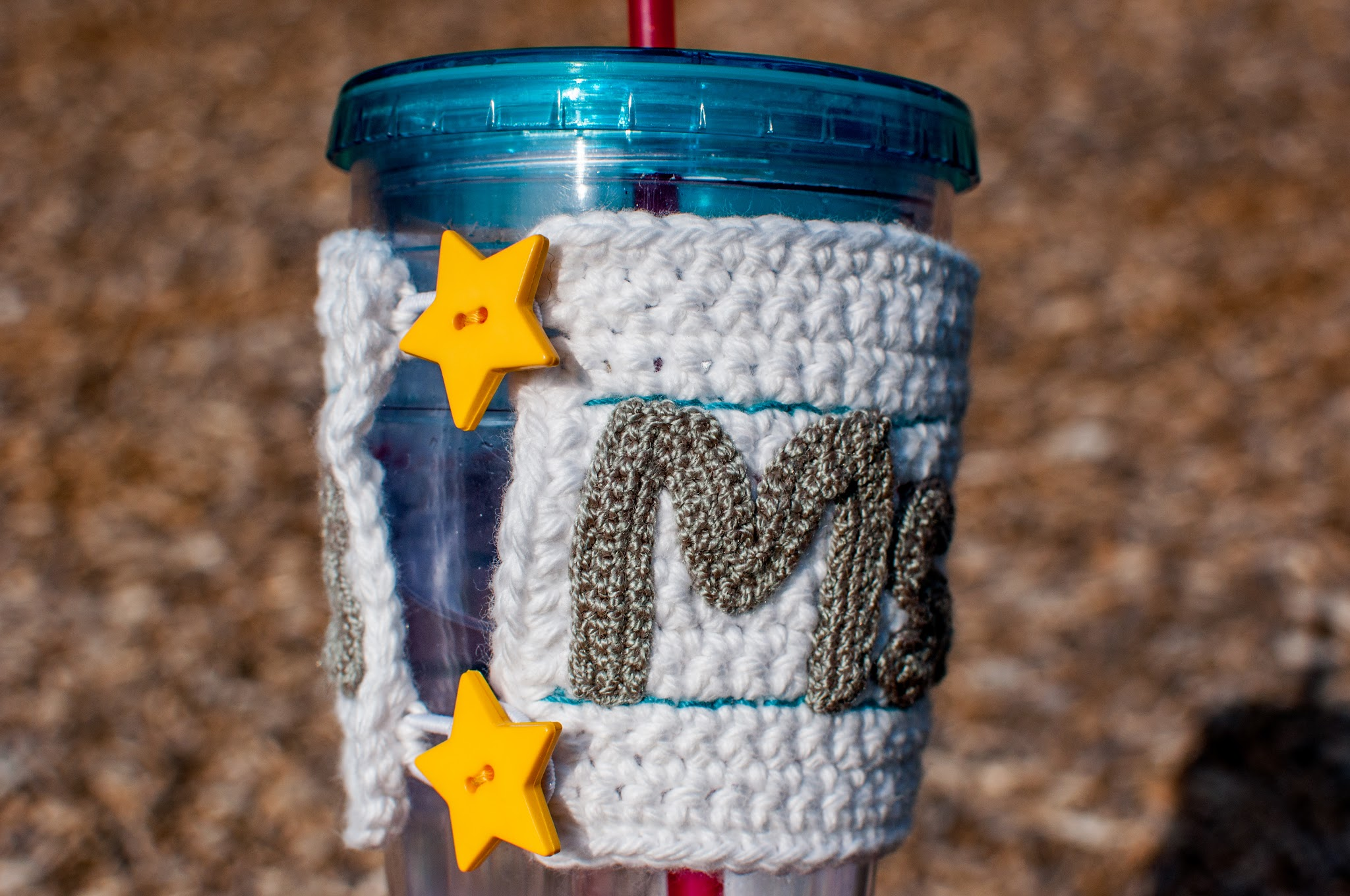 Teacher Gift Crochet Cup Cuff Buttons