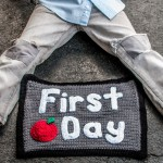 Back to School Crochet Photo Prop - Hi, Jenny Brown
