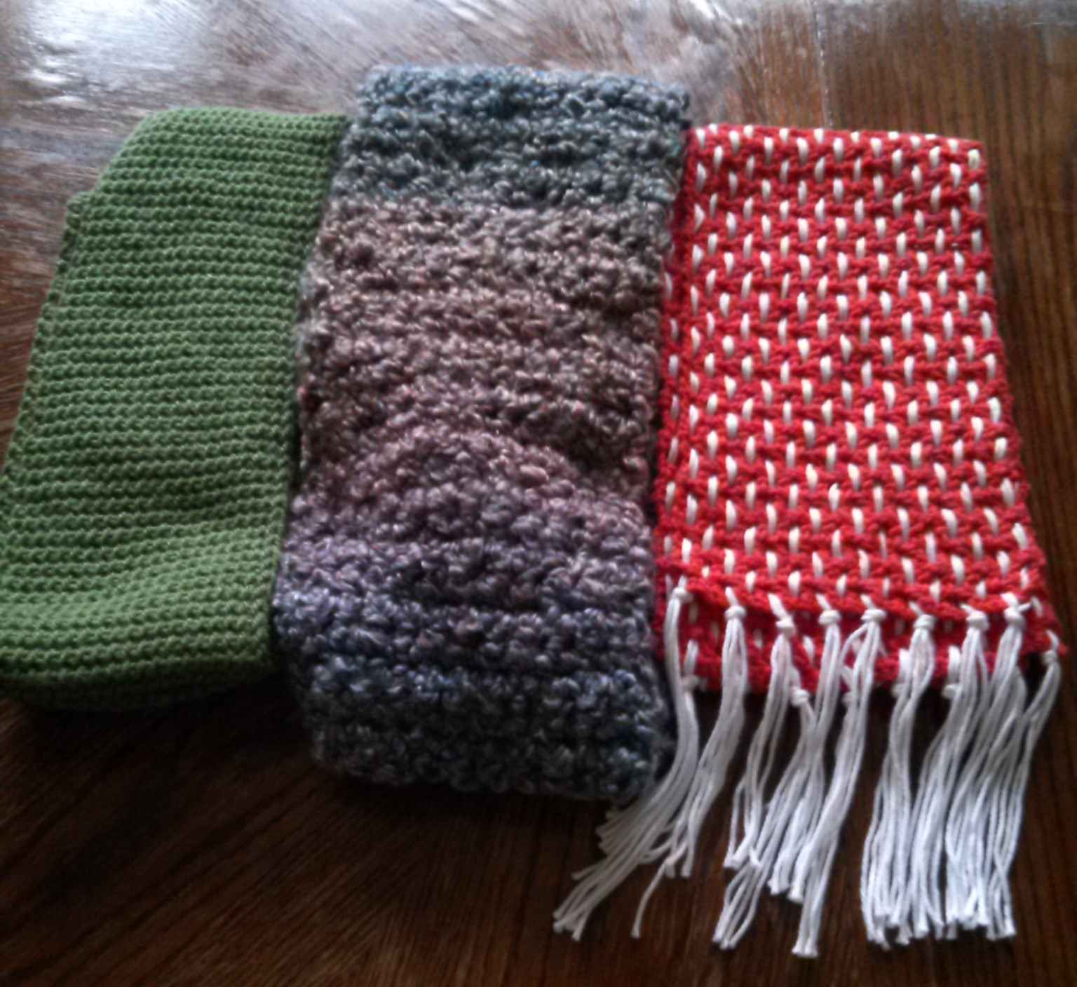 Hi, Jenny Brown - scarves for craft hope