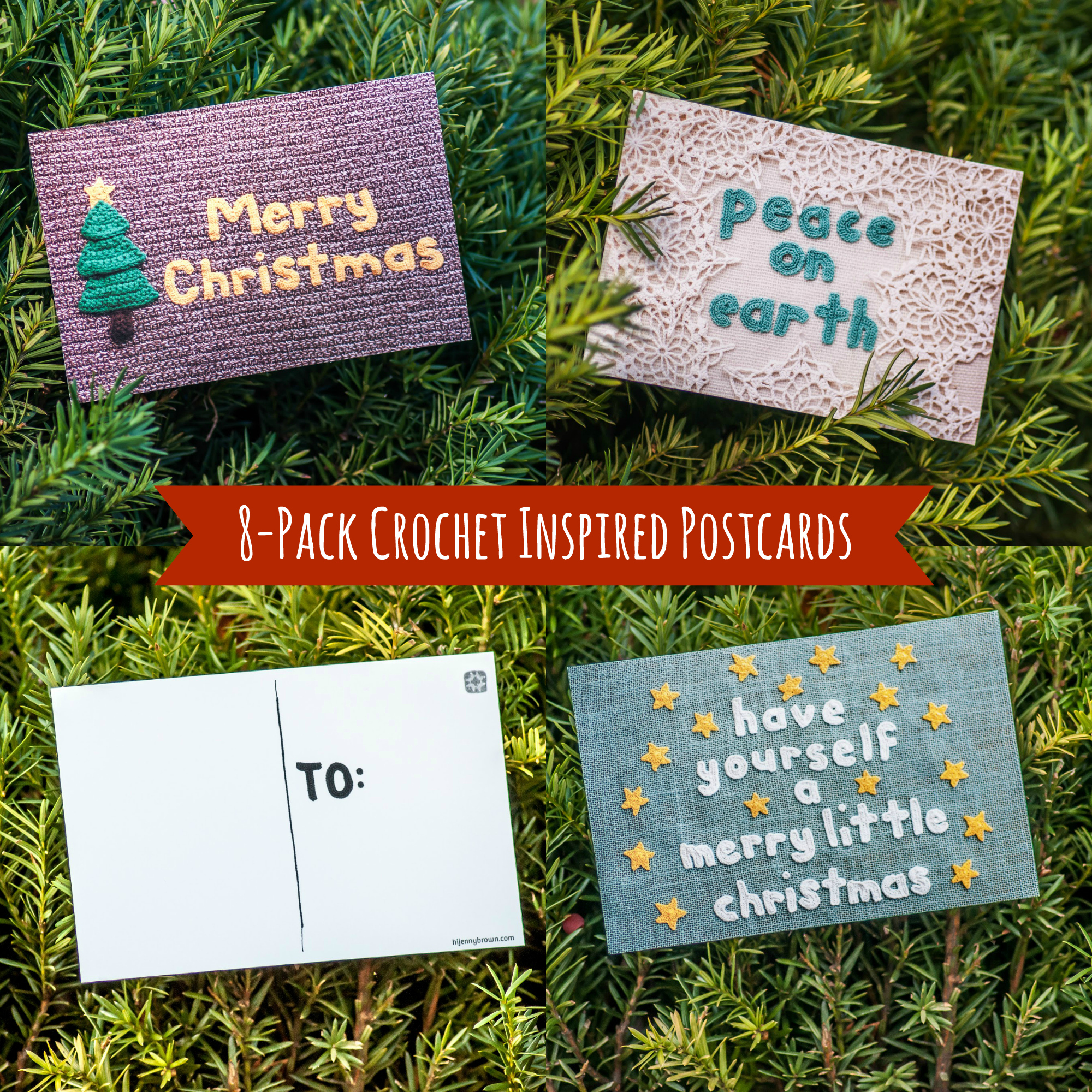 holiday postcards - hijennybrown.com