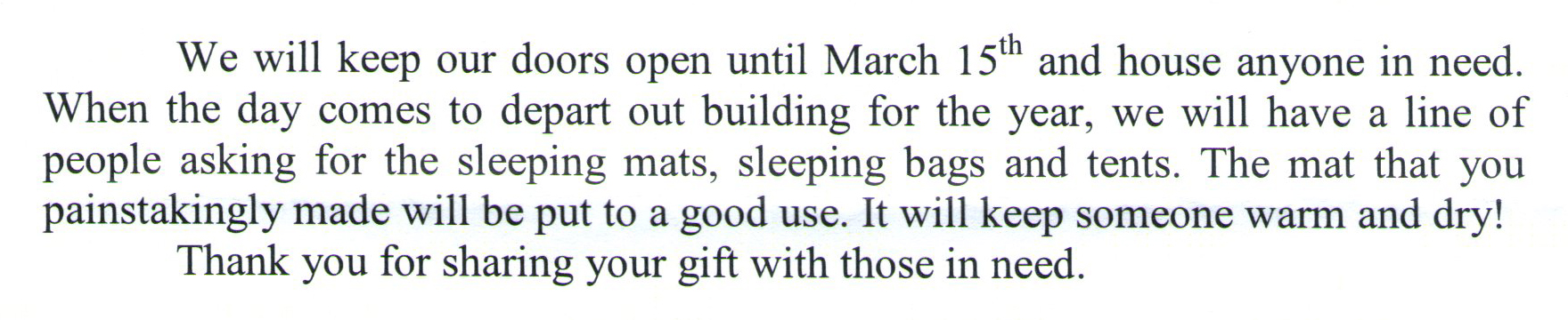 Wheeling Youth Services Letter about crochet plastic mat- hijennybrown.com