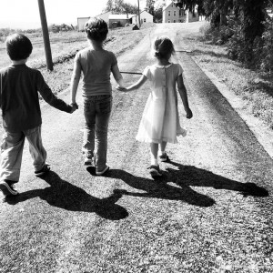 Kids in the road - photo by Erin Markan