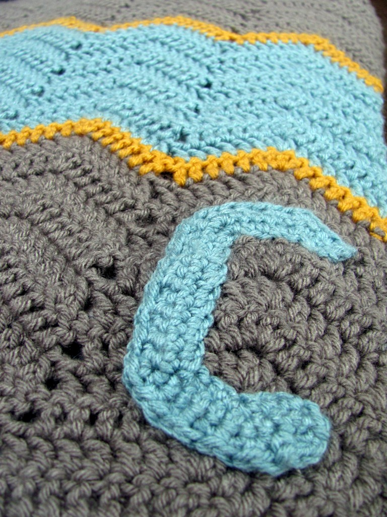 Personalized Crochet Blanket - Hi, Jenny Brown