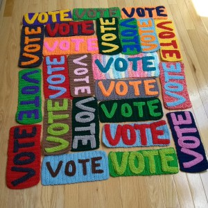 Vote Sign Crochet Pattern Yarnbomb 2