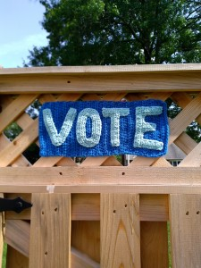 Vote Sign Crochet Pattern Yarnbomb 1